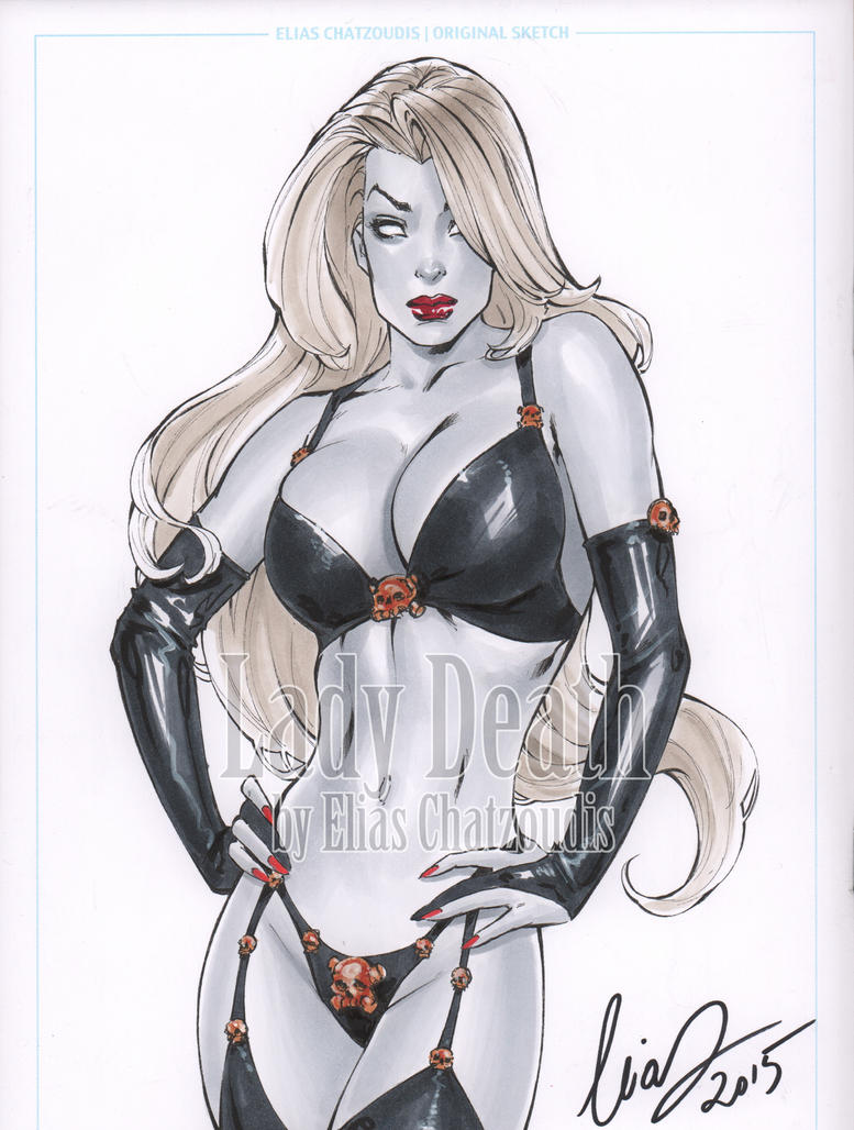 Lady Death Sketch by Elias-Chatzoudis
