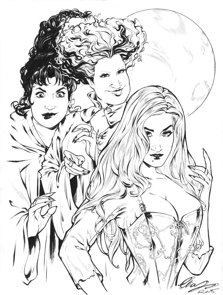 The Sanderson Sisters by Elias-Chatzoudis