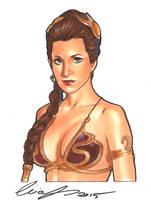 Slave Leia Original by Elias-Chatzoudis