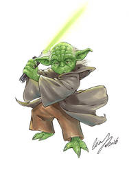 Yoda Original Art