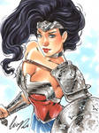 Wonder Woman sketch card 6x8