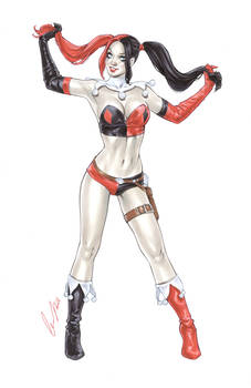 Harley Quinn Red Black