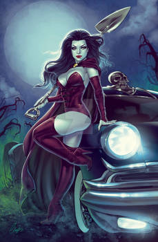 Witch with her Hearse