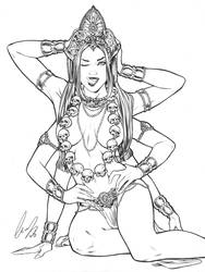 Goddess of Death by Elias-Chatzoudis