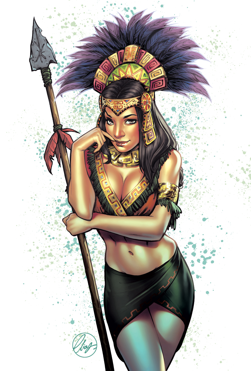 It's just a photo of Luscious Aztec Princess Drawing