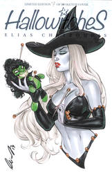 Lady Death with Evil Ernie voodoo doll