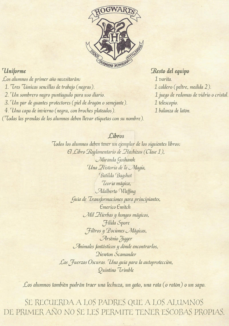 Hogwarts Acceptance Letter Spanish 2 2 By Desiredwings