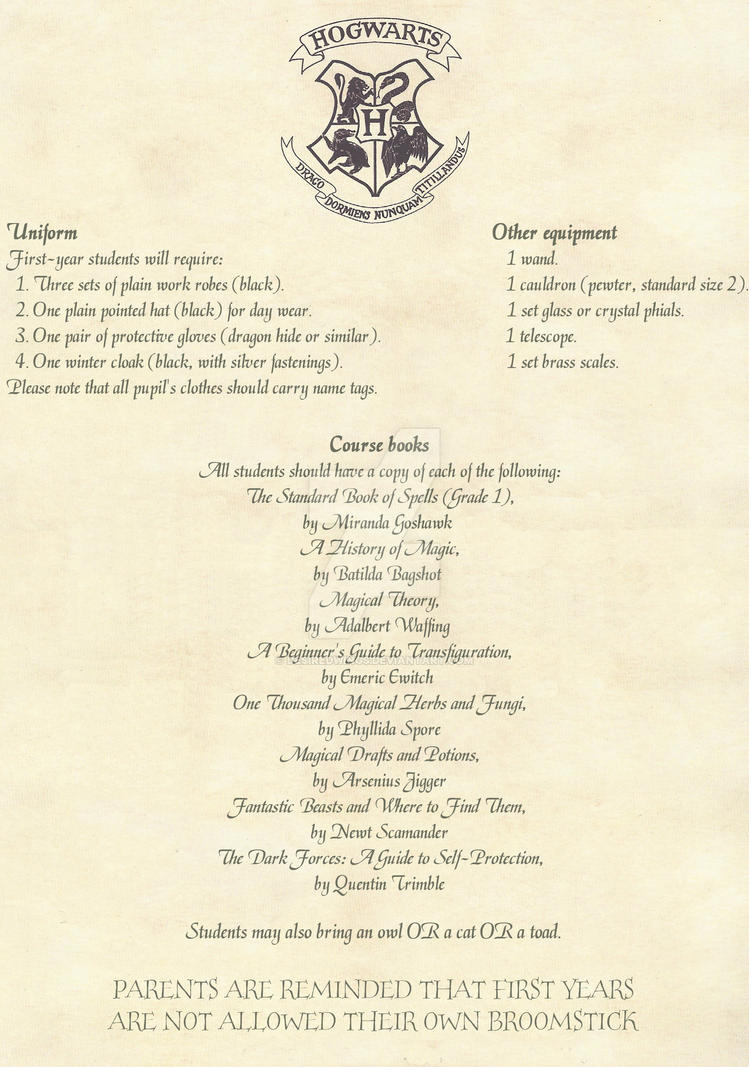 Hogwarts Acceptance Letter English 2 By Desiredwings