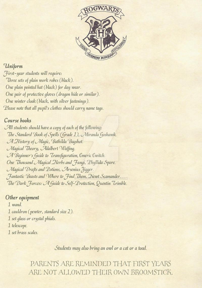 Hogwarts acceptance letter Hogwarts Crest On Letter