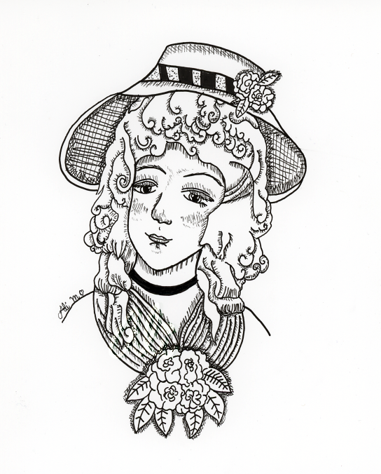 Portrait of Laurette DuPont in Pen by Alexandra-chan