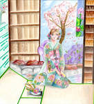 Springtime for Manami (colored pencil) by Alexandra-chan
