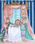 Victorian Ladies Tea (colored pencils) by Alexandra-chan
