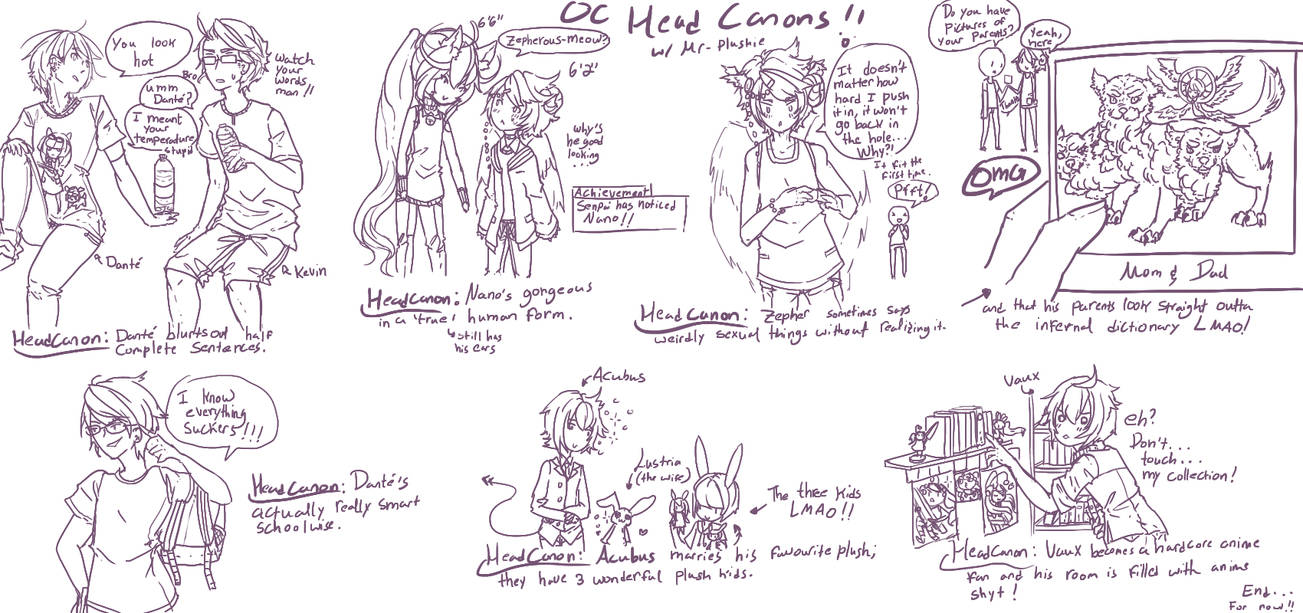 Random OC Headcanons by Mr-Plushie on DeviantArt