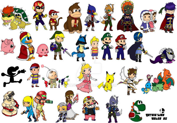 how to draw super smash bros brawl characters