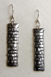 Woven Earrings by colmark-designs