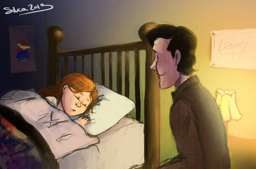 The Doctor and Amy Pond.