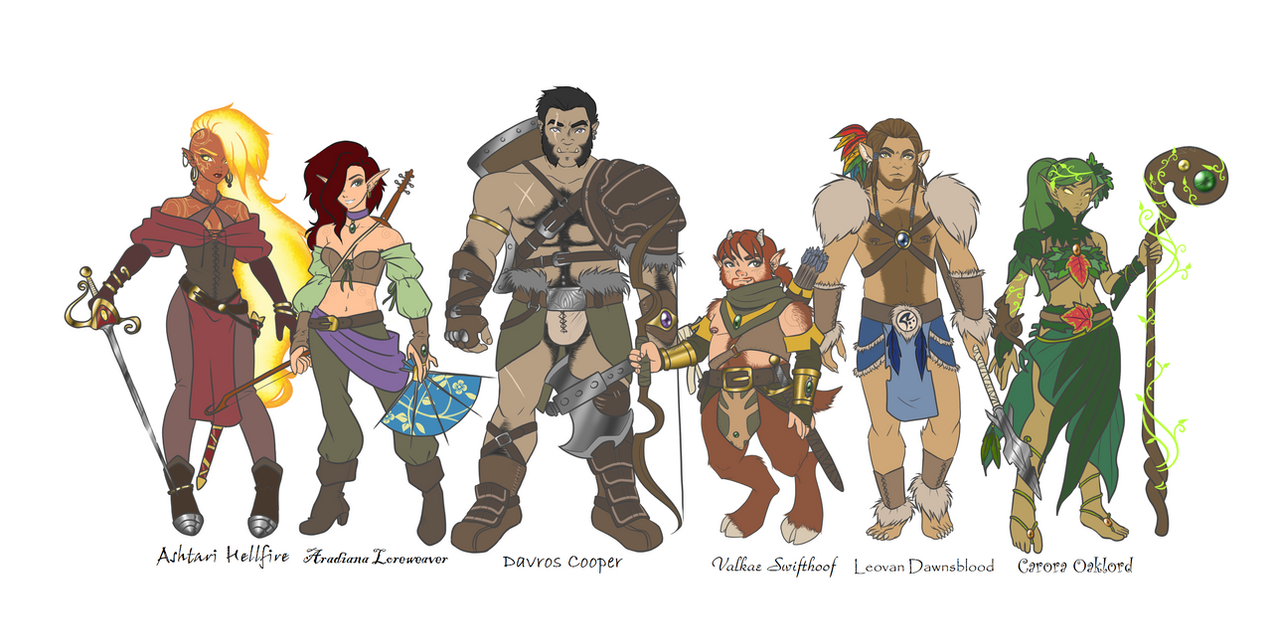 Deviantart com art dungeons and dragons character line up 279362399
