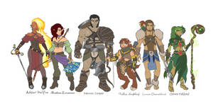 Dungeons And Dragons Character Line Up