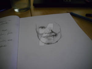 Initial sketch of her face