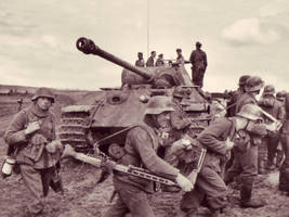 Panther and German Troops by F3nrirWolf