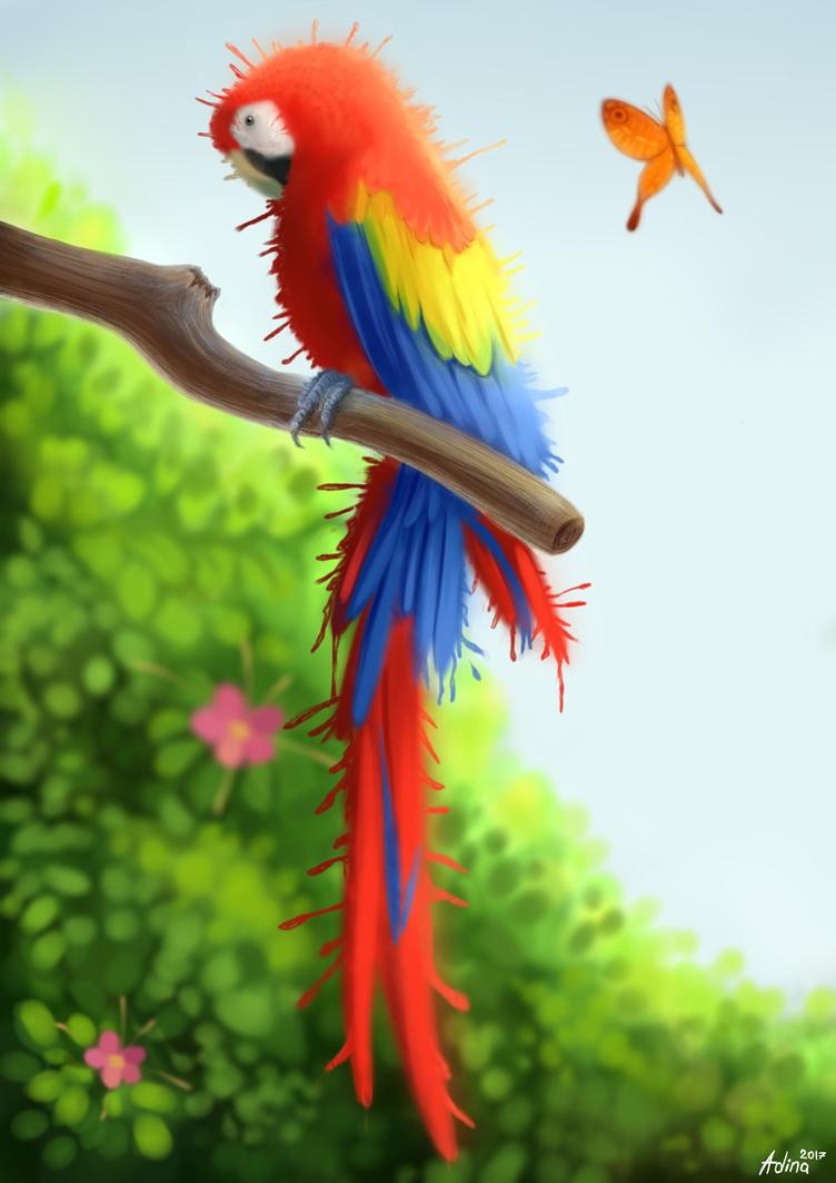 Scarlet macaw by LuminousDazzle
