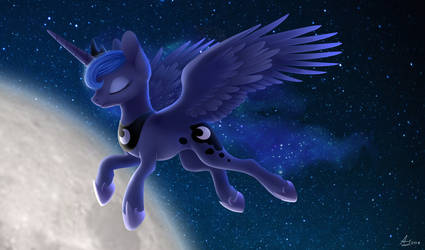 Princess Luna (draw this again) by LuminousDazzle