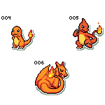 Charmander - Charmeleon - Charizard Icon Pack by Angelishi