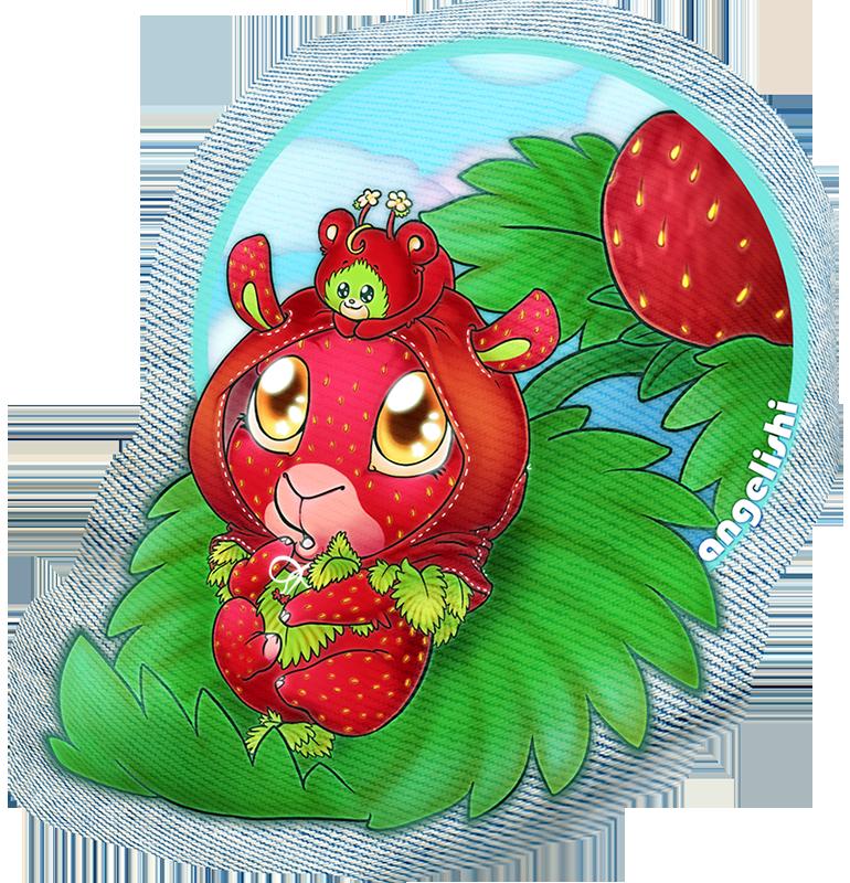 Strawberry Llama by angelishi