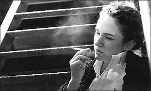 Margareta with Cigarette