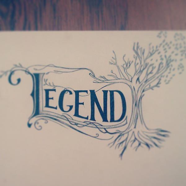 Legend - hand drawn by aniadz