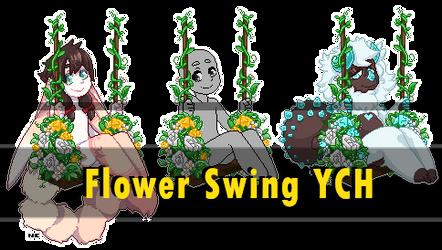 [YCH: Open] Flower Swing Pixel [5 Slots left]