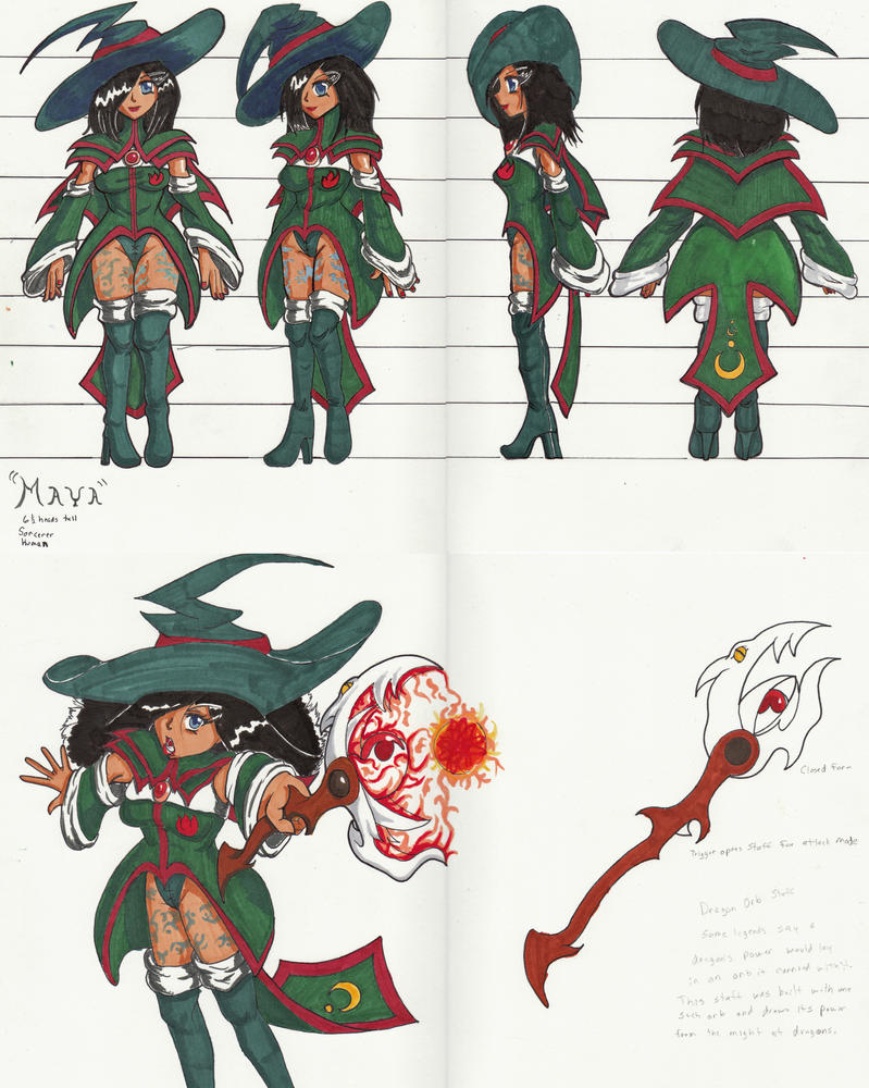 Sorceress Maya by lockezero