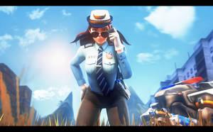 OFFICER! I--I can e-explain! by Craxytavi