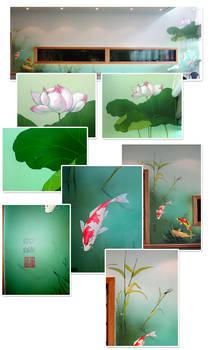 Koi Koi - chinese style mural