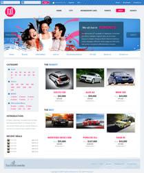 Blue + pink website