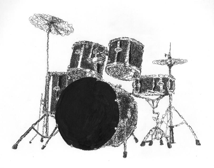 Drum Set Clipart Drum Set Drawing Source