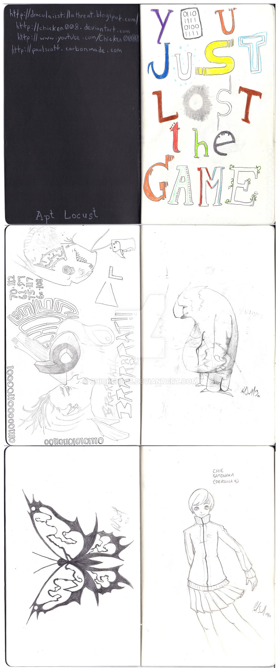 Sketchbook Project Pages 1-6