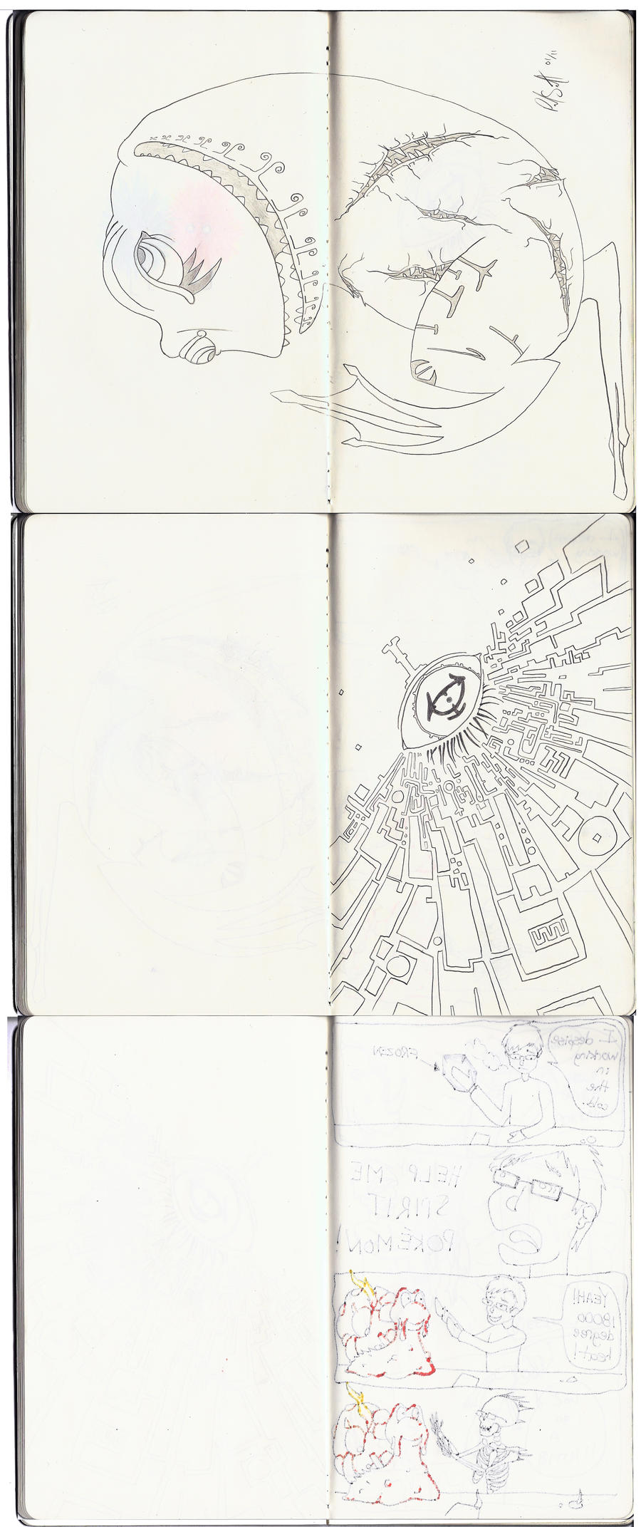Sketchbook Project Pages 43-48