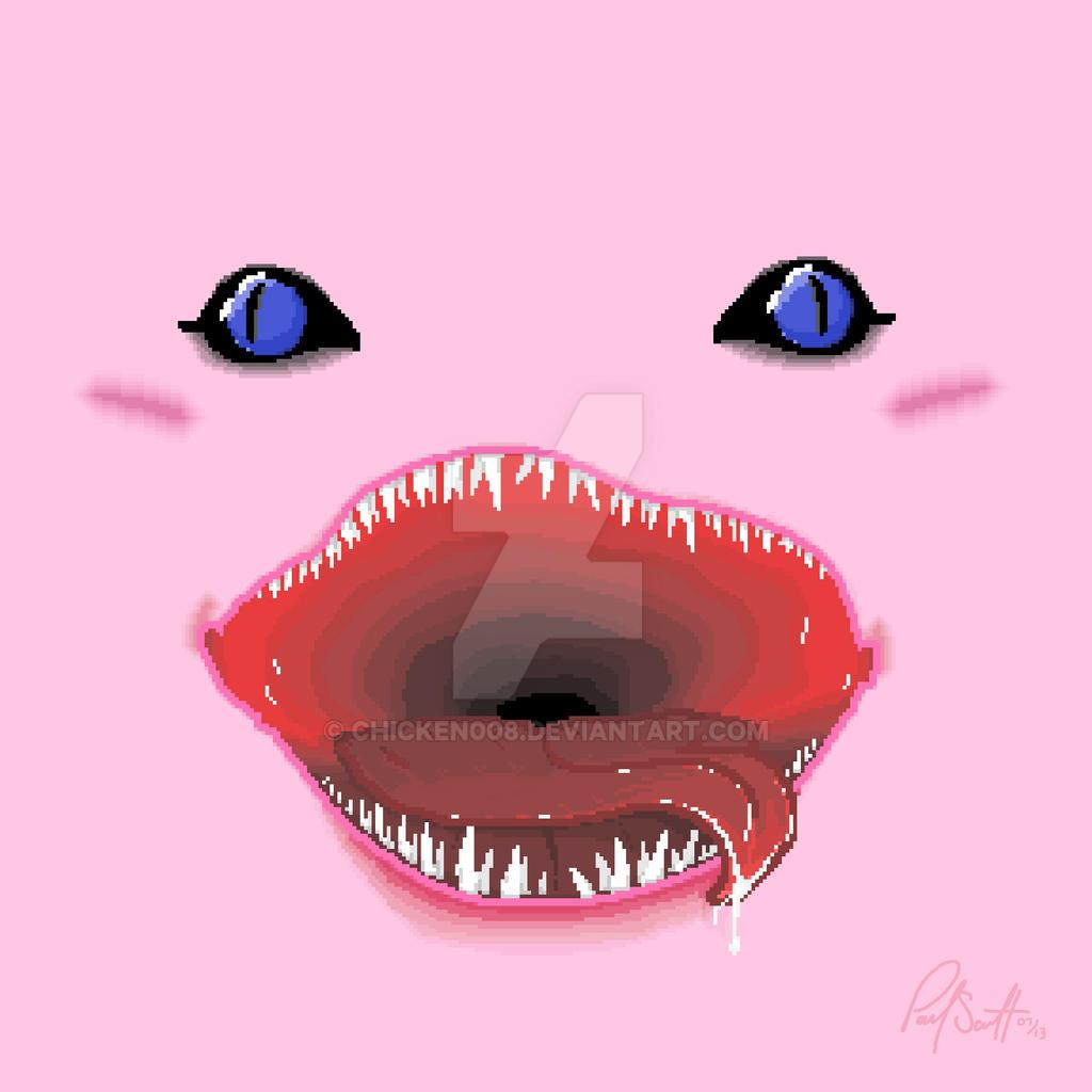 Pixel Kirby Face