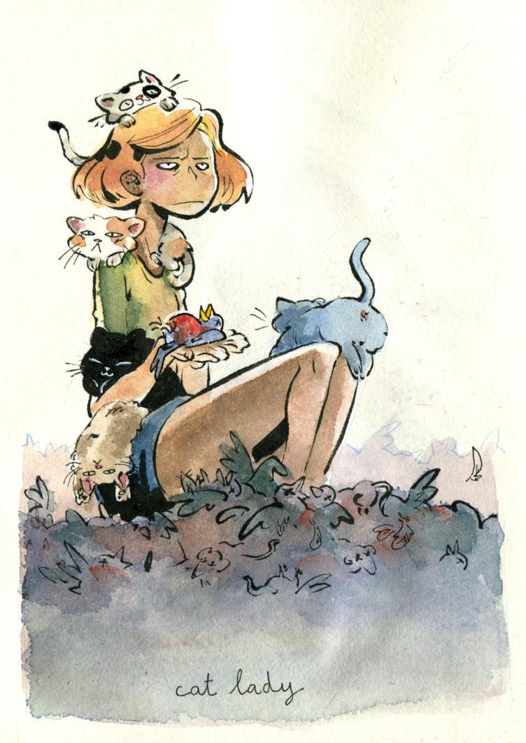 Cat Lady Copie by El-Flambi