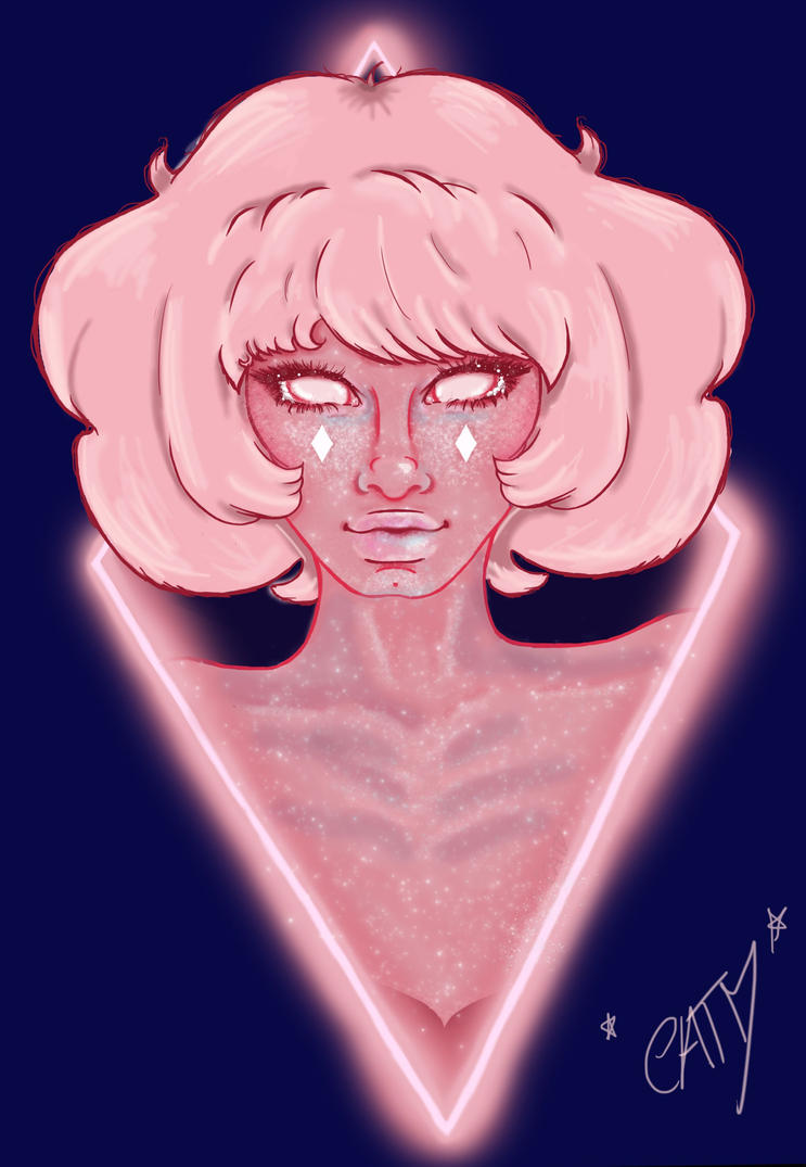 "This is my illustration of Pink Diamond from the cartoon ""Steven Universe"".   For COMMISSIONS you can send me notes with details or contact me via instagram dms. BTW!!! I AM TRADING A COM..."