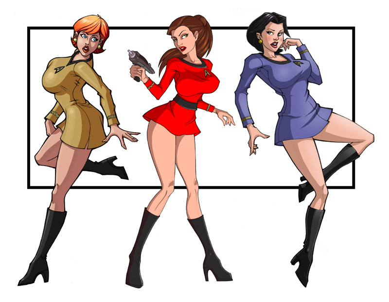 Star trek sexy women drawing