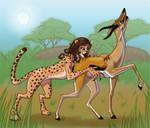 Cheetah woman attacks