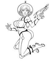 Space Girl by berkheit