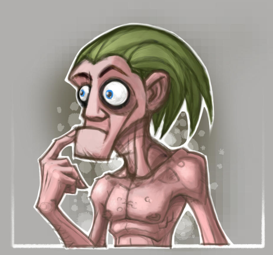 Crazy old Mr green by berkheit