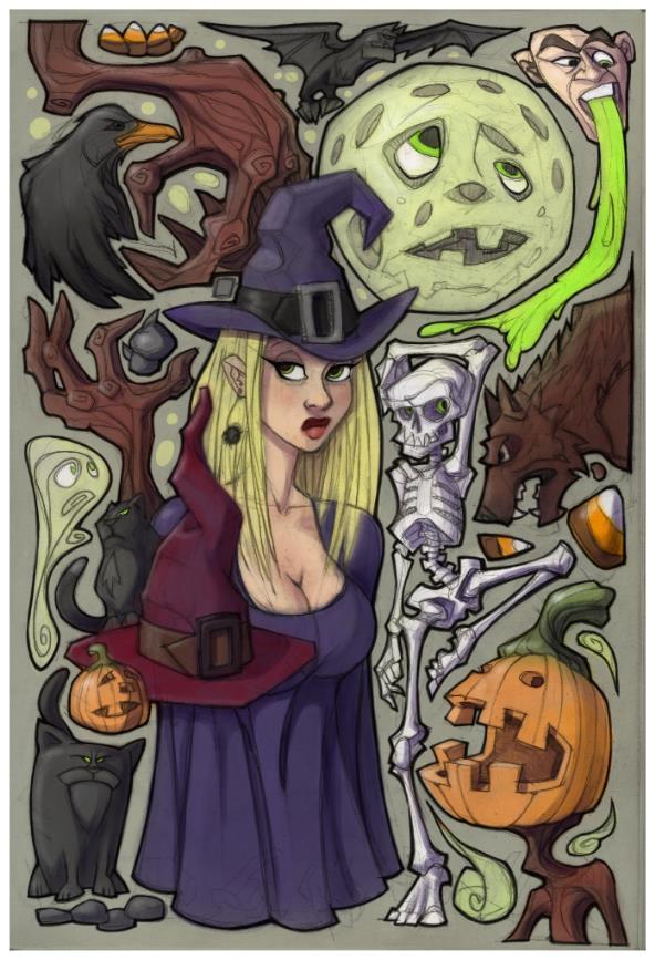 Halloween Mess by berkheit