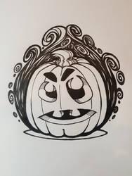 Halloween Pumpkin in flames