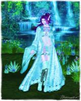 Night Elf Portrait by Louvette