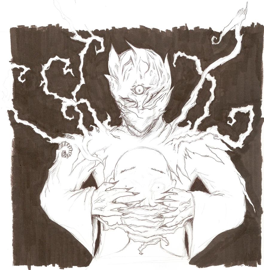 Greel, Mindraking (rough) by Goatllama
