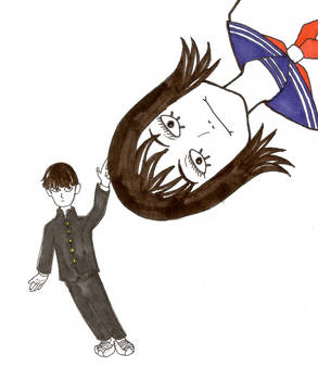 Inktober 2018 4: Mob messing with the Best Girl